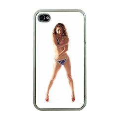Usa Girl Apple Iphone 4 Case (clear) by hlehnerer