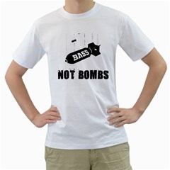 Drop Bass Not Bombs White T Shirt by Lab80