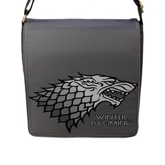 Winter Is Coming ( Stark ) 2 Flap Closure Messenger Bag (large)