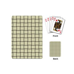 Cream Weave Playing Cards (mini)