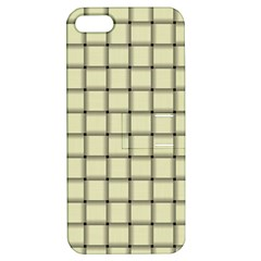 Cream Weave Apple Iphone 5 Hardshell Case With Stand