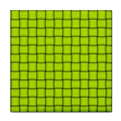 Fluorescent Yellow Weave Ceramic Tile by BestCustomGiftsForYou