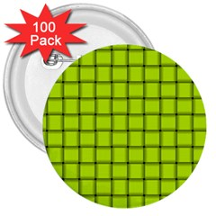 Fluorescent Yellow Weave 3  Button (100 Pack) by BestCustomGiftsForYou