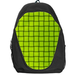 Fluorescent Yellow Weave Backpack Bag