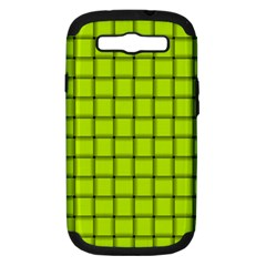 Fluorescent Yellow Weave Samsung Galaxy S Iii Hardshell Case (pc+silicone)