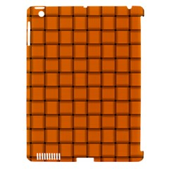 Orange Weave Apple Ipad 3/4 Hardshell Case (compatible With Smart Cover) by BestCustomGiftsForYou