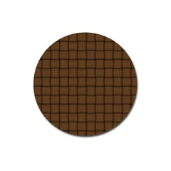 Brown Nose Weave Magnet 3  (round) by BestCustomGiftsForYou