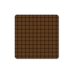 Brown Nose Weave Magnet (square) by BestCustomGiftsForYou