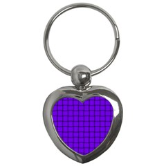 Violet Weave Key Chain (heart)