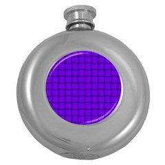 Violet Weave Hip Flask (round) by BestCustomGiftsForYou