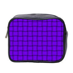 Violet Weave Mini Travel Toiletry Bag (two Sides)