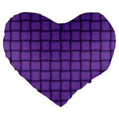 Amethyst Weave 19  Premium Heart Shape Cushion by BestCustomGiftsForYou