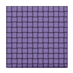 Light Pastel Purple Weave Ceramic Tile by BestCustomGiftsForYou