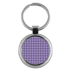 Light Pastel Purple Weave Key Chain (round) by BestCustomGiftsForYou