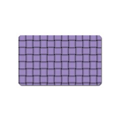 Light Pastel Purple Weave Magnet (name Card) by BestCustomGiftsForYou