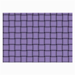 Light Pastel Purple Weave Glasses Cloth (large, Two Sided)