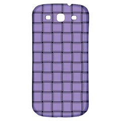 Light Pastel Purple Weave Samsung Galaxy S3 S Iii Classic Hardshell Back Case by BestCustomGiftsForYou