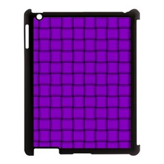 Dark Violet Weave Apple Ipad 3/4 Case (black) by BestCustomGiftsForYou