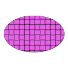 Ultra Pink Weave  Magnet (oval)