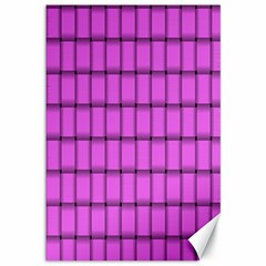 Ultra Pink Weave  Canvas 12  X 18  (unframed)