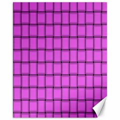 Ultra Pink Weave  Canvas 11  X 14  9 (unframed) by BestCustomGiftsForYou