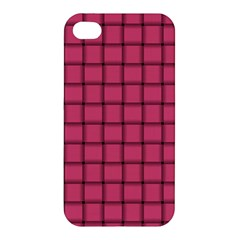 Dark Pink Weave Apple Iphone 4/4s Premium Hardshell Case by BestCustomGiftsForYou