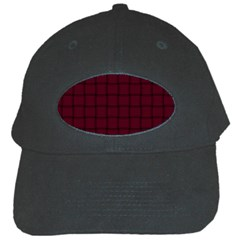 Dark Scarlet Weave Black Baseball Cap