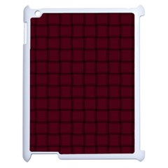 Dark Scarlet Weave Apple Ipad 2 Case (white) by BestCustomGiftsForYou