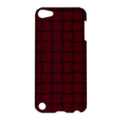 Dark Scarlet Weave Apple Ipod Touch 5 Hardshell Case by BestCustomGiftsForYou
