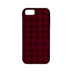 Dark Scarlet Weave Apple Iphone 5 Classic Hardshell Case (pc+silicone)