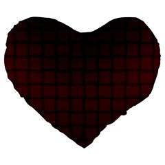 Dark Scarlet Weave 19  Premium Heart Shape Cushion by BestCustomGiftsForYou