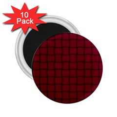 Burgundy Weave 2 25  Button Magnet (10 Pack)