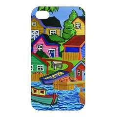 Three Boats & A Fish Table Apple Iphone 4/4s Premium Hardshell Case