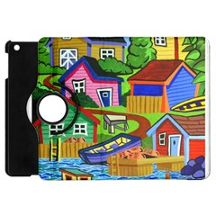 Three Boats & A Fish Table Apple Ipad Mini Flip 360 Case
