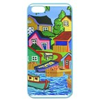 Three Boats & A Fish Table Apple Seamless iPhone 5 Case (Color) Front