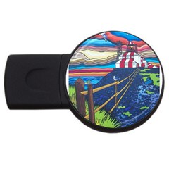 Cape Bonavista Lighthouse 2gb Usb Flash Drive (round)