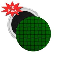 Green Weave 2 25  Button Magnet (10 Pack) by BestCustomGiftsForYou
