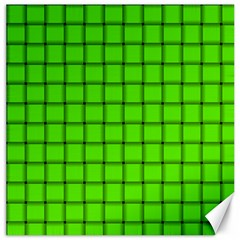 Bright Green Weave Canvas 12  X 12  (unframed)