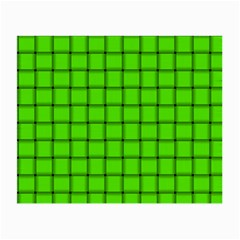 Bright Green Weave Glasses Cloth (small, Two Sided)