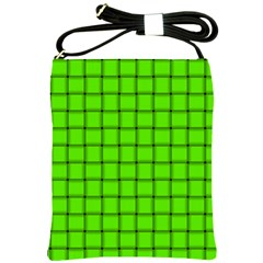 Bright Green Weave Shoulder Sling Bag