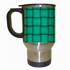 Caribbean Green Weave Travel Mug (white) by BestCustomGiftsForYou