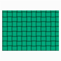 Caribbean Green Weave Glasses Cloth (large, Two Sided)
