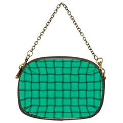 Caribbean Green Weave Chain Purse (one Side)
