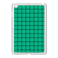 Caribbean Green Weave Apple Ipad Mini Case (white)