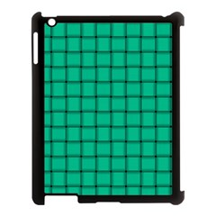 Caribbean Green Weave Apple Ipad 3/4 Case (black) by BestCustomGiftsForYou