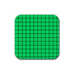 Spring Green Weave Drink Coaster (square) by BestCustomGiftsForYou