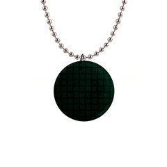 Dark Green Weave Button Necklace by BestCustomGiftsForYou