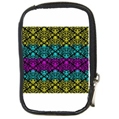 Cmyk Damask Flourish Pattern Compact Camera Leather Case