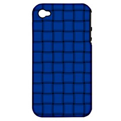 Cobalt Weave Apple Iphone 4/4s Hardshell Case (pc+silicone) by BestCustomGiftsForYou