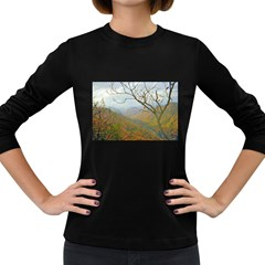 Way Above The Mountains Womens' Long Sleeve T Shirt (dark Colored)